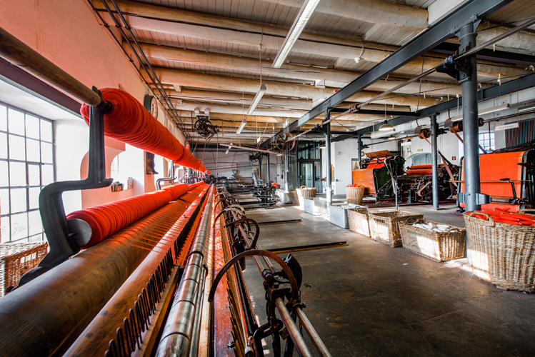 Picture: Interior view of the hall of the spinning mill, Image Credit: Photographer Oliver Pracht